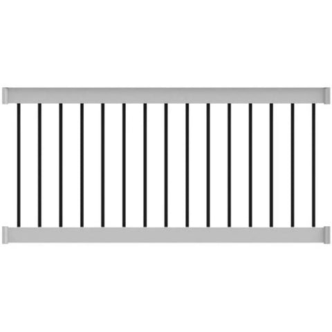 Deck Railing Finyl Line™ Deck Top Vinyl White Round