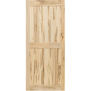2 Panel Maple Unfinished Interior Barn Door Slab