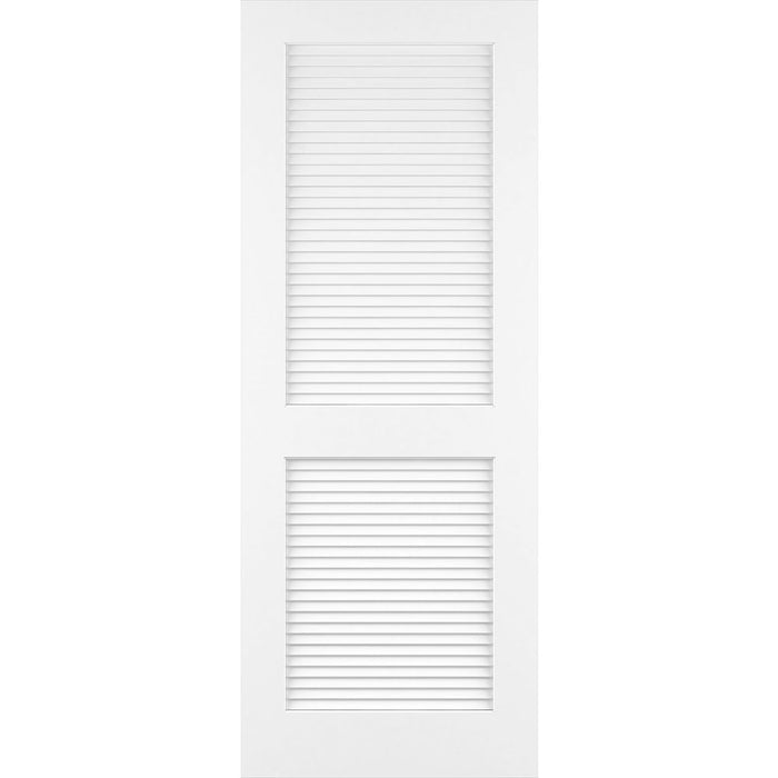 Traditional Louver Louver Solid Core White Interior Door Slab