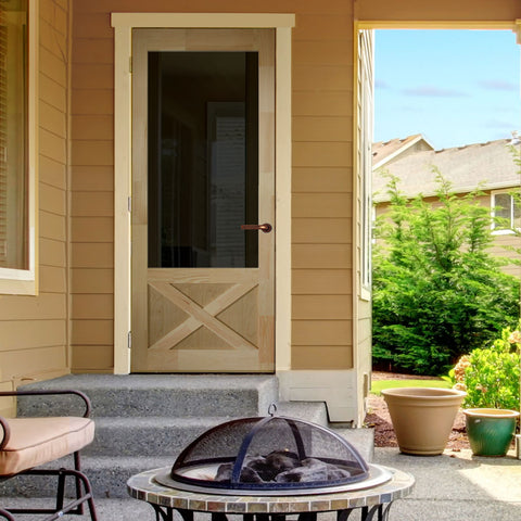 Screen Door 1-3/8 in  thick x 84 in  high Wood Thompson