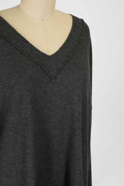 WASHED THERMAL KNIT LONG SLEEVE TEE