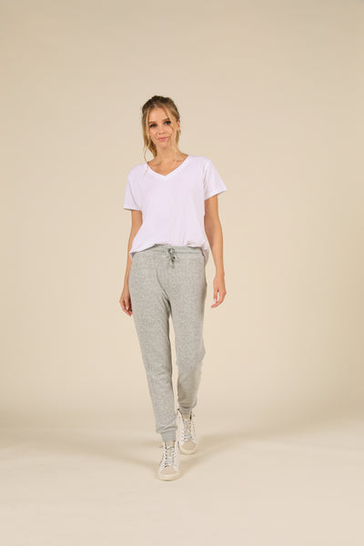 BRUSHED HACCI FRONT TIE JOGGER