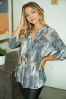 GREY TIE DYE GABY TOP