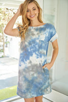 Short Sleeve Tie Dye Dress