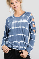 LADDER CUTOUT TIE DYE TOP