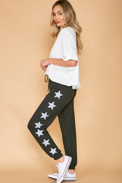 GRAPHIC STAR PRINTED SWEATPANTS