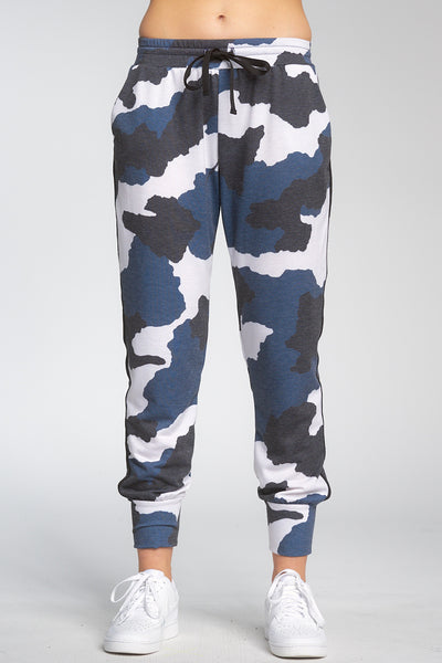 ELAN CAMO JOGGERS WITH SIDE STRIPING