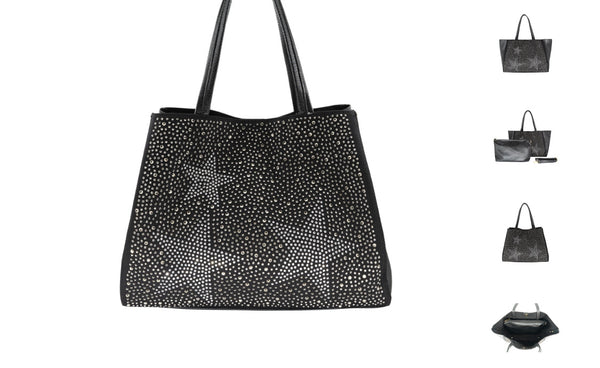 STAR TOTE WITH STONE DETAILS