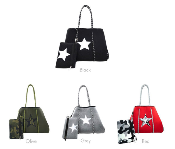 Neoprene Handbags with Star