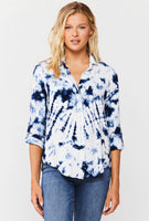 RILEY DARK NAVY VELVET HEART TOP