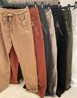 JOGGER PANT FROM ITALY WITH ZIPPERED POCKETS