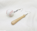 baseball earrings baseball bat earrings