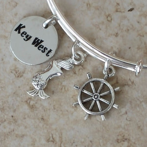 Mermaid Helm key west charm bangle