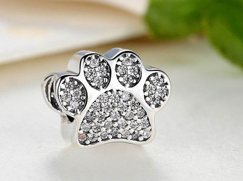 925 Sterling Silver Dog Paw Charms,