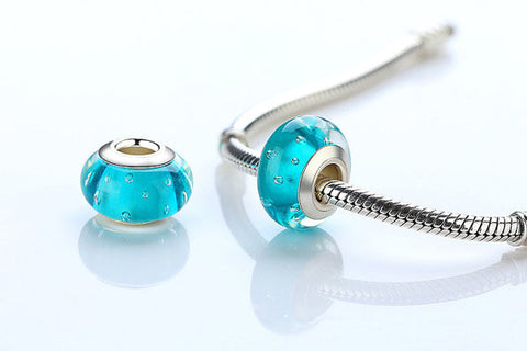 925 Sterling Silver Moreno Glass Beads Charm