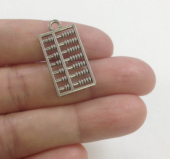 calculator charm, abacus charm