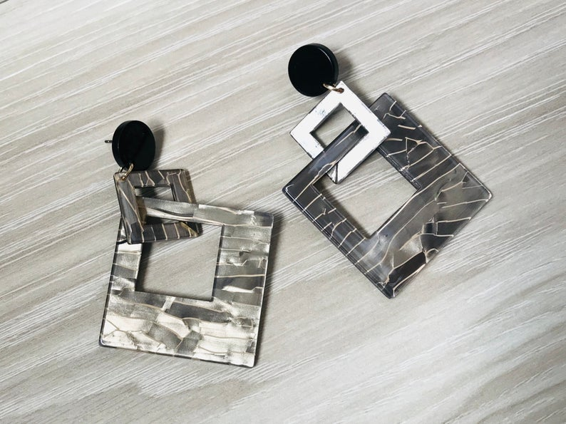 Square Acrylic GeometricEarrings
