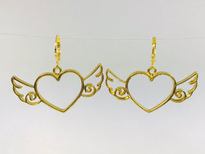 Wing Heart Earrings