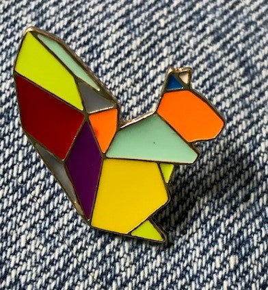 Artsy patched Sqierrel enamel pin wholesale