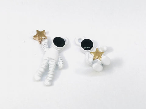 5 Sets ( 10 Pieces ) Astronaut Charm