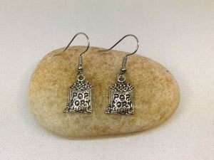 Bag of Pop Corn Charm Earrings, Snack Jewelry