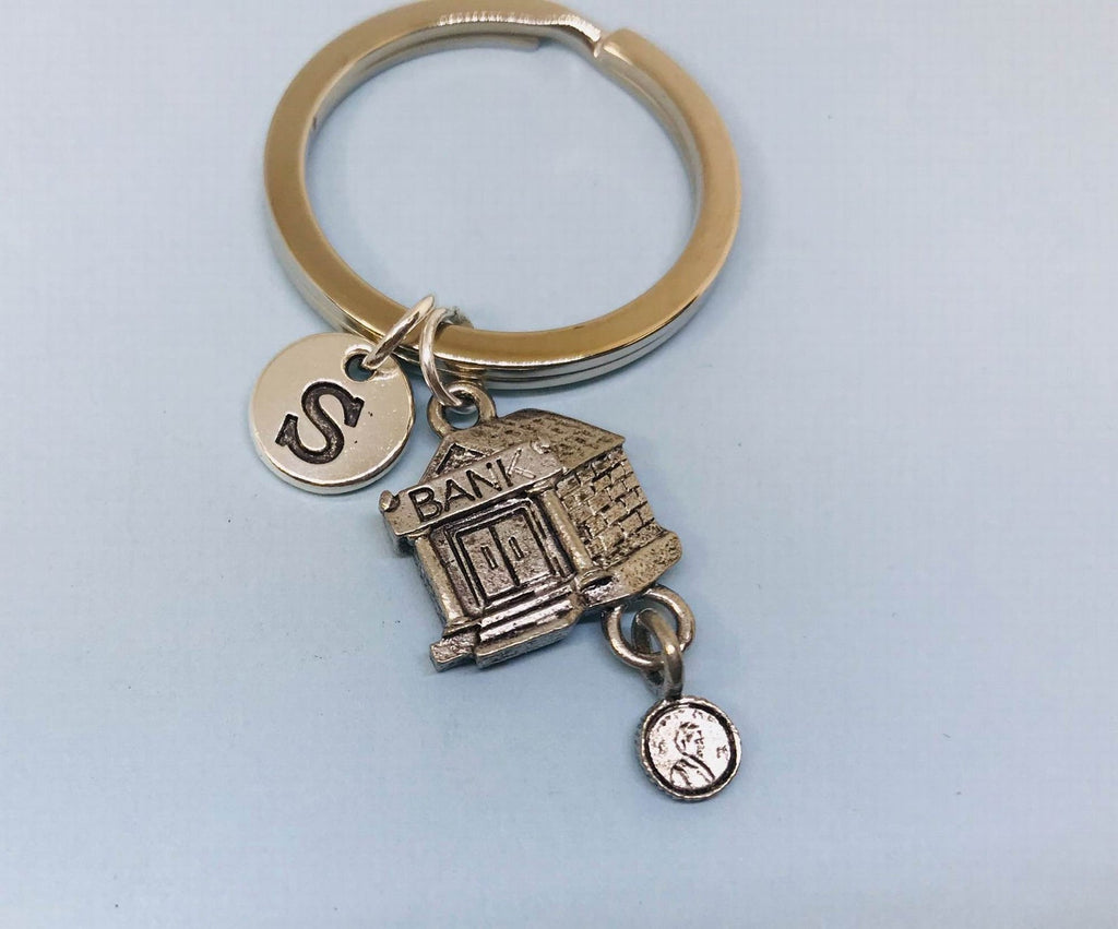 Bank Charm Key Chain