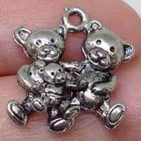 6 Bear Charms, Teddy Bear charm