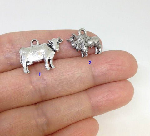 10 Animal Charm, Bison Charm, Cow Charm