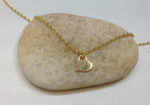 Tiny Heart Necklace | Minimalist Jewelry