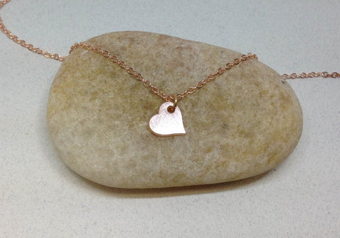 Dainty Heart Necklace, Bridesmaid Gifts
