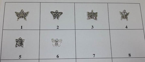 Butterfly Charm, Insect Charm 6 Pieces