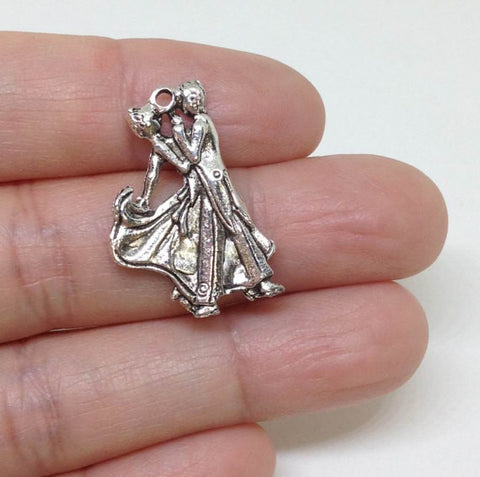 6 Couple Dancing Charms, Ballroom Dancing Charm, Dancing Charm