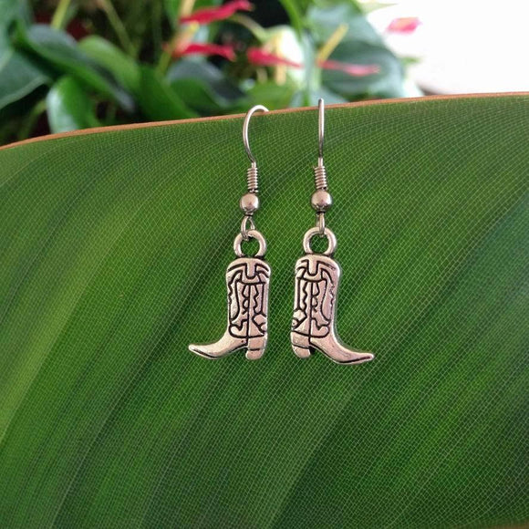 Western Cowboy Boots Earrings