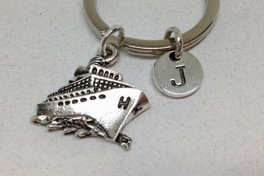 Cruise Ship Charm key chain