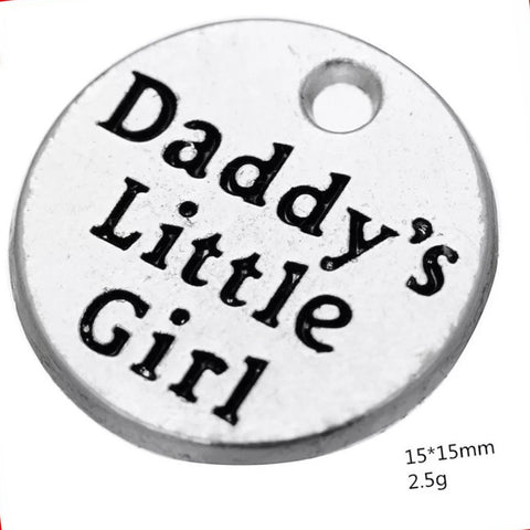 5 Daddy's little Girl Charm Wholesale