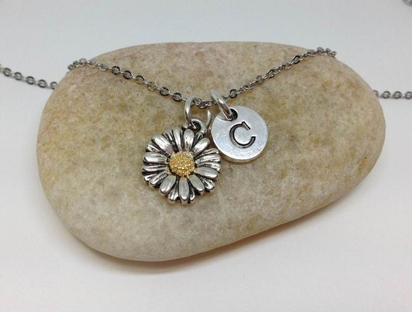 Sun Flower charm Necklace, Daisy Charm Necklace