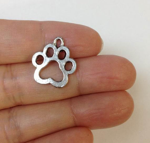 DOG PAW PRINTS CHARM
