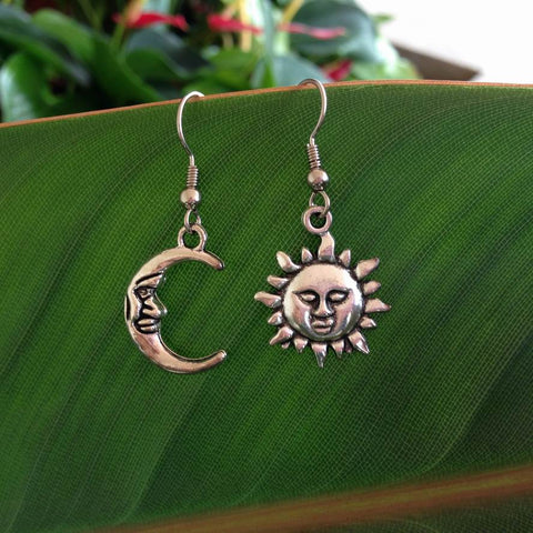 Sun and Moon Earrings 3 Styles