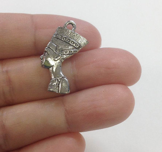 Queen Nefertiti Charm, Egyptian Queen Charm, Ancient Egyptian Charm, History Charm