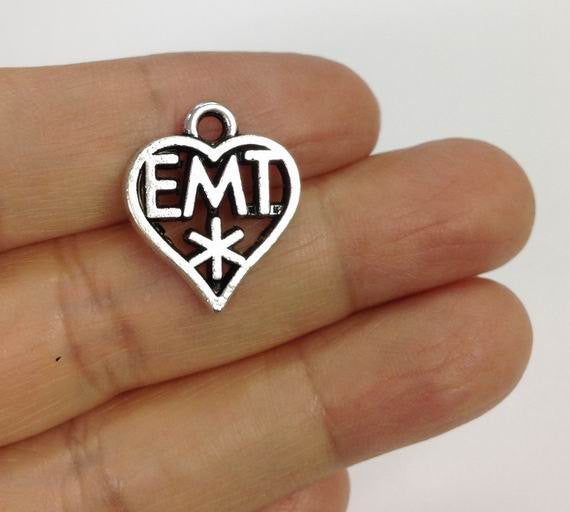 6 Emergency medical technician charms, EMT charm, Emergency Medical charm