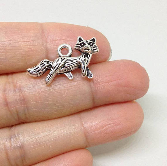 6 Fox Charms wholesale pewter charm