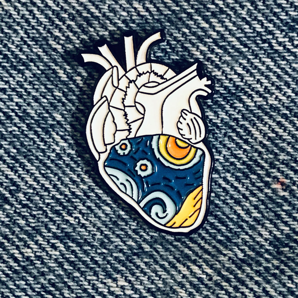 Galaxy Heart  Lapel Pin
