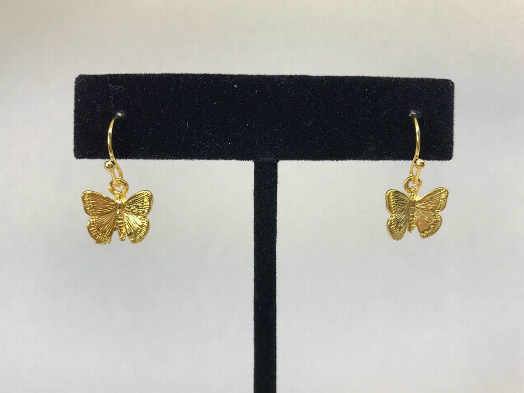 Gold Tiny Butterfly Earrings