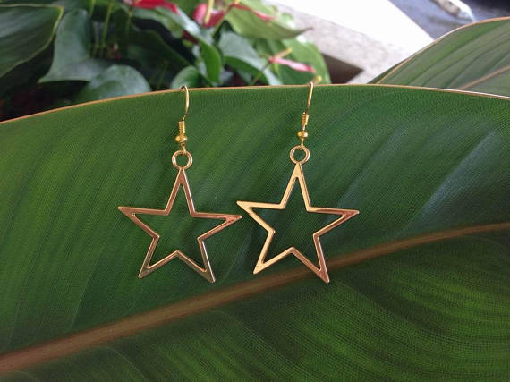 Star statement earrings