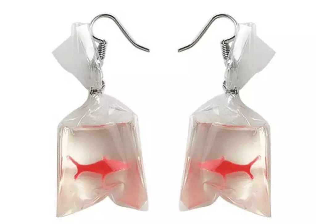 Bag of Gold Coy Fish Earrings, Goldfish Eearrings
