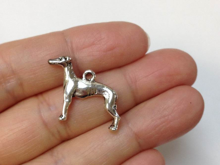 10pcs Greyhound Charm