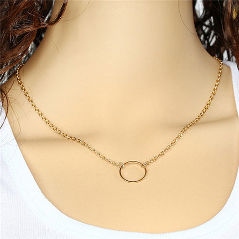 Circle of Love minimalist chain necklace
