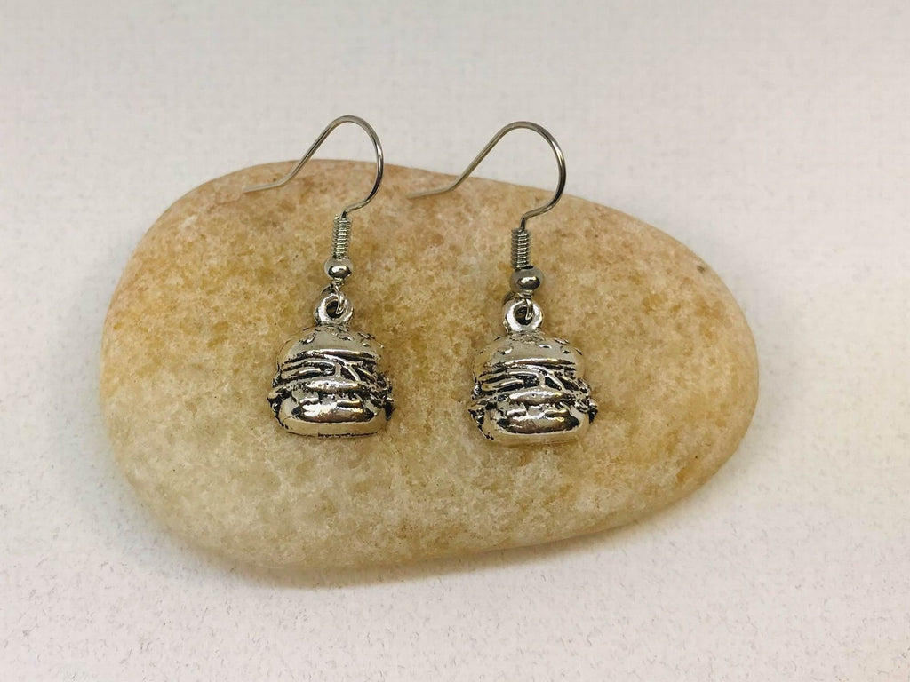 Burger Earrings Fastfood Jewelry
