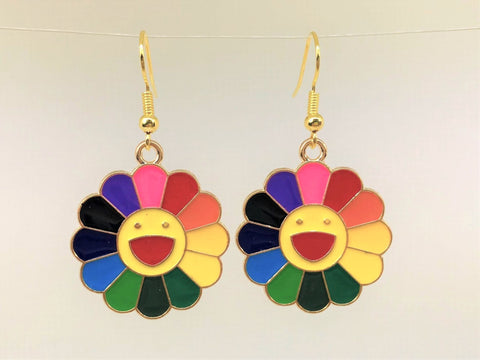 Smiling Sunflower Earrings, Daisy Earrings
