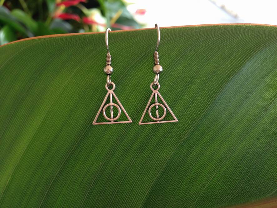 Harry Potter Deathly Hallows charm Earrings